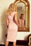 144-6 Sukienka midi SARA - BRUDNY RÓŻ