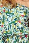 198-4 JULIE Sukienka z falbankami na rękawkach - ZIELONE TUKANY