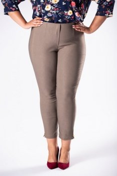 spodnie cygaretki z gumką w pasie