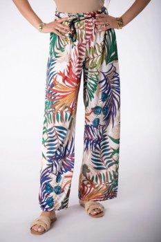 szerokie spodnie z printem