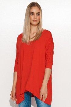 Asymetryczna bluzka damska onesize czerwona M704