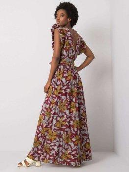 Sukienka-DHJ-SK-13570.40P-bordowy