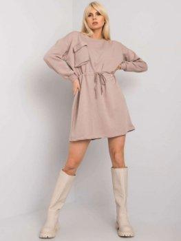Sukienka-RV-SK-7011.27X-ciemny bezowy