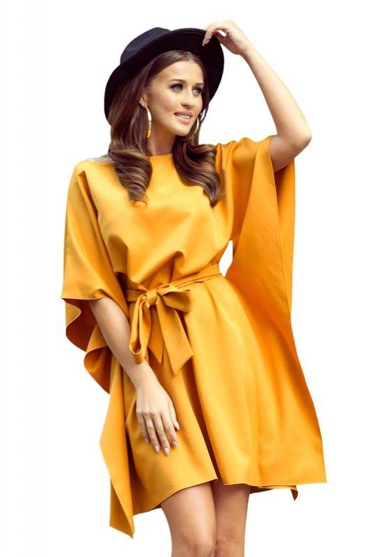 287-1 SOFIA Sukienka motyl - MIODOWA