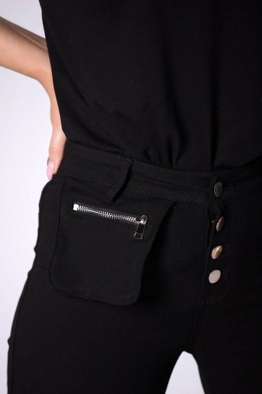 spodnie slim z kieszonką