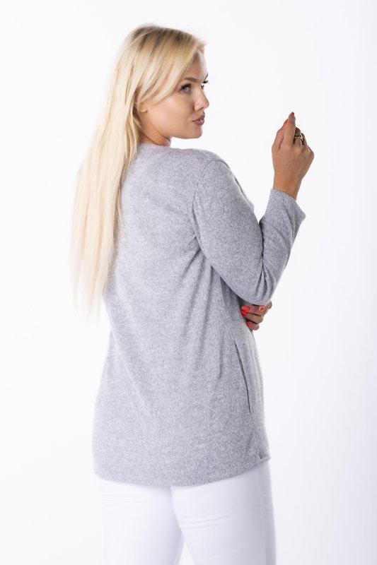 sweter z wiązaniem