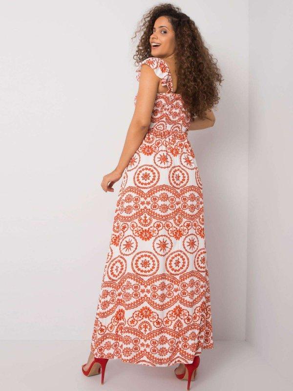 Sukienka-DHJ-SK-13572.09P-pomarańczowy