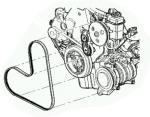 Pasek wielorowkowy alternatora Chrysler PT Cruiser 2,0 4668241AD