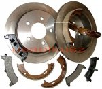 Tylne tarcze klocki oraz szczęki hamulcowe Ford Explorer 1995-2001
