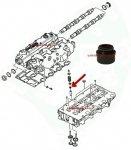 Uszczelniacz trzonka zaworu silnika Chrysler Voyager 2,5 CRD 2,8CRD