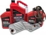 Oryginalny olej Motorcraft Mercon V oraz filtr skrzyni Ford Mustang 2005-2010