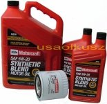 Oryginalny filtr oraz olej silnikowy Motorcraft 5W20 Ford F150 / F250 / F350