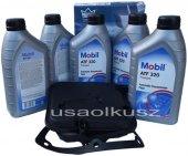 Półsyntetyczny olej MOBIL ATF320 oraz filtr oleju skrzyni biegów 4-spd Jeep Wrangler 2003-