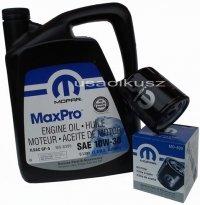 Oryginalny filtr oleju oraz olej MOPAR 10W30 Jeep Cherokee 2,4 16V