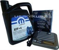 Olej MOPAR ATF+4 oraz filtr automatycznej skrzyni 4SPD Chrysler Voyager Town Country AWD 2008-
