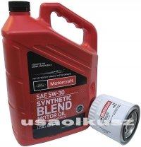 Oryginalny filtr oraz syntetyczny olej silnikowy Motorcraft 5W30 Mercury Mountaineer 4,0 V6 2001-