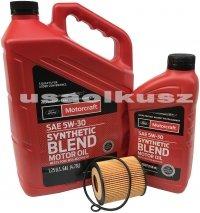 Wkład filtra oraz olej silnika Motorcraft 5W30 Mazda CX-7 CX7 2,3 16V -2009