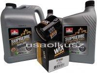 Filtr oraz syntetyczny olej 5W30 GMC Acadia 3,6 V6
