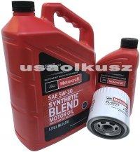 Oryginalny filtr oraz syntetyczny olej silnikowy Motorcraft 5W30 Ford Explorer 4,6