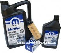 Olej MOPAR 5W30 oraz oryginalny filtr Chrysler Voyager Town Country 3,6 V6 2014-