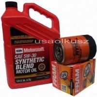 Oryginalny syntetyczny olej silnikowy Motorcraft 5W30 oraz filtr Ford Explorer 4,0 -2001