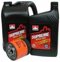 Filtr oleju oraz olej SUPREME 10W30 Dodge Neon 2,0 16V