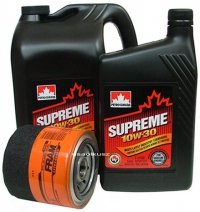 Filtr oleju FRAM PH16 oraz olej SUPREME 10W30 Dodge Spirit