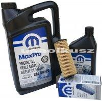 Olej MOPAR 5W20 oraz oryginalny filtr RAM 1500 3,6 V6 2013