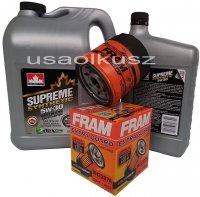 Filtr oraz syntetyczny olej 5W30 GMC Safari