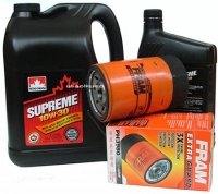 Filtr oleju oraz olej SUPREME 10W30 Pontiac Firebird V6