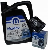 Oryginalny filtr oraz olej MOPAR 10W30 Chrysler Cirrus 2,0 / 2,4