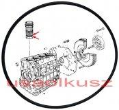 Oring uszczelniacz tulei cylindra 2,50mm Chrysler Voyager 2,5 TD 46320532A