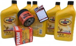 Filtr + olej PENNZOIL 5W30 GMC Savana 4,3 V6 2000-