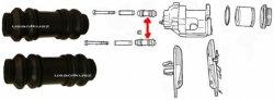 Osłonki prowadnic tylnego zacisku Ford Windstar