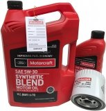 Filtr + olej Motorcraft 5W30 SYNTHETIC BLEND Ford Crown Victoria -2000