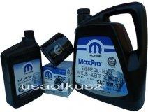 Oryginalny MOPAR filtr oraz mineralny olej 5W30 Dodge Durango 4,7 V8 2008-