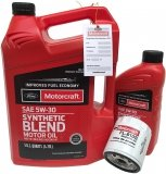 Filtr + olej Motorcraft 5W30 SYNTHETIC BLEND Ford Fusion 2,0 2013-