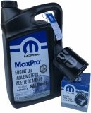 Oryginalny filtr oleju oraz olej MOPAR 5W20 Jeep Wrangler 3,8 V6