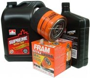 Filtr oleju FRAM PH16 oraz olej SUPREME 10W30 Chrysler LeBaron