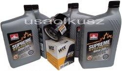 Filtr oleju oraz syntetyczny olej 10W30 Dodge Caravan