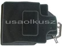 Dywaniki welurowe Nissan Qashqai - czarne