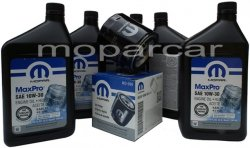 Filtr oraz olej MOPAR 10W30 Chrysler LeBaron