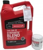Filtr + olej silnikowy Motorcraft 5W20 SYNTHETIC BLEND Ford Fusion 1,5 EcoBoost