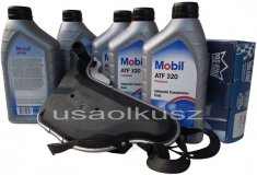 Filtr oraz olej skrzyni biegów Mobil ATF320 Chevrolet Equinox 2008