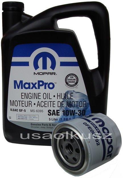 Filtr + olej 10W30 MOPAR Dodge Intrepid