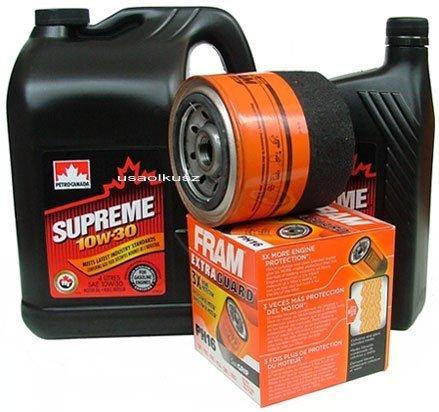 Filtr oleju FRAM PH16 oraz olej SUPREME 10W30 Jeep Grand Cherokee