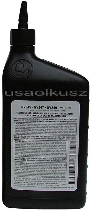 Olej reduktora NV245 NV247 NV249 MOPAR MS-10216