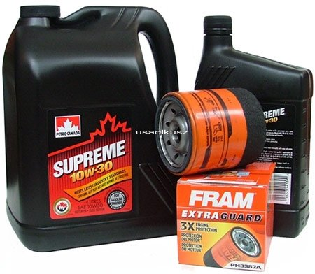 Filtr oleju oraz olej SUPREME 10W30 Oldsmobile Silhouette 3,4 / 3,8 V6