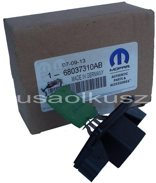 Oryginalny MOPAR rezystor opornica prędkości nadmuchu wentylatora Dodge Challenger 2008-2010 klimatyzacja manualna