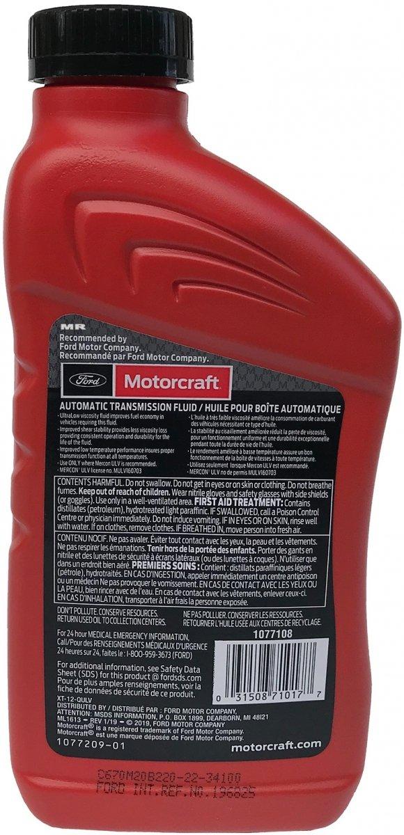 Olej przekładniowy Motorcraft MERCON ULV